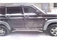 Подножки на УАЗ Патриот Штатные с алюминиевой накладкой